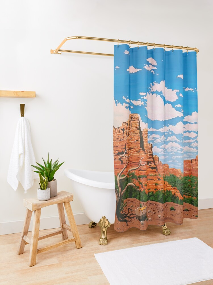 Alternate view of The Lizard King Shower Curtain