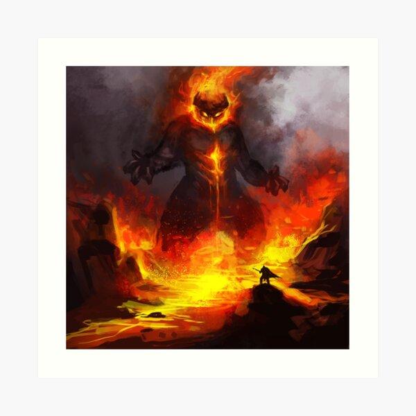 Flamewreathed Fellborne Art Print