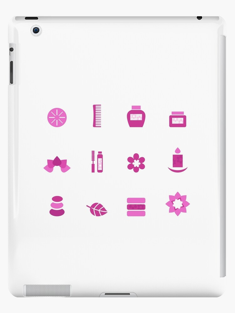 Collection of wellness and spa icons by Bee and Glow Illustrations Shop