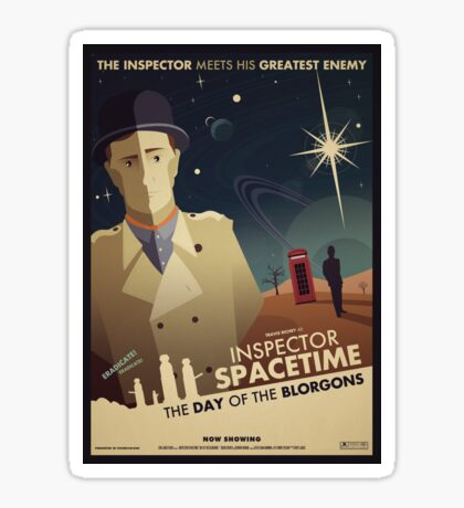 Inspector Spacetime: Day of the Blorgons Sticker