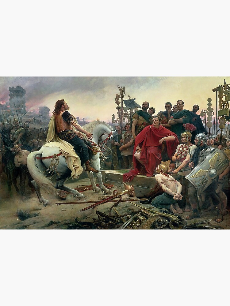 Celtic leader Vercingetorix surrenders to Caesar  by edsimoneit