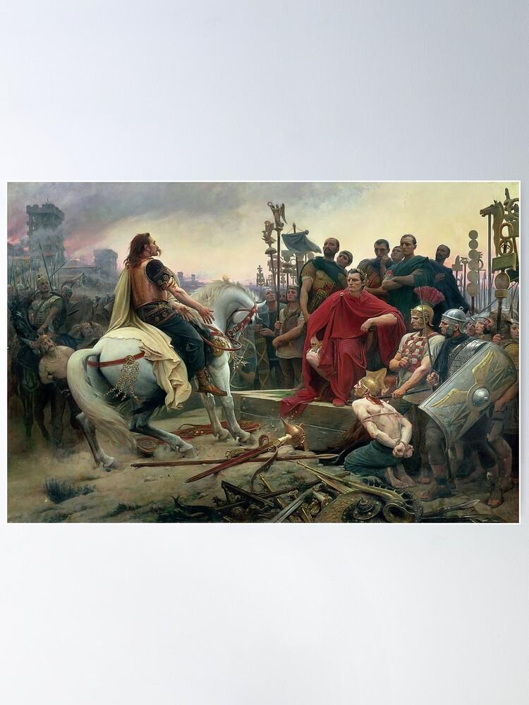 Alternate view of Celtic leader Vercingetorix surrenders to Caesar  Poster
