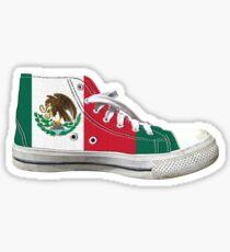 Hi Top Mexico Basketball Shoe Flag Sticker