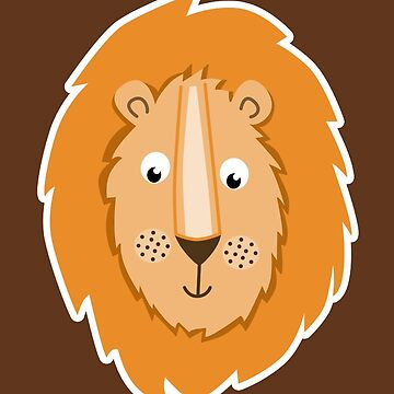 Lion Lion Head Brown Lion Lionhead Brown by frau-erbse