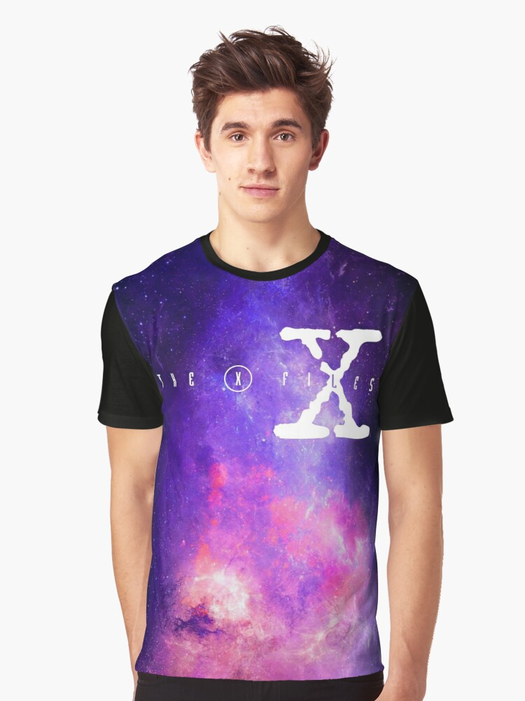 X files galaxy Graphic T-Shirt Front