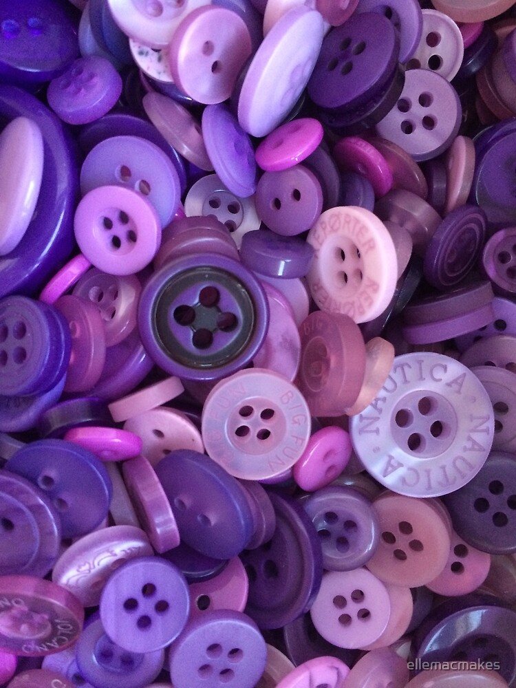 Assorted purple buttons by ellemacmakes
