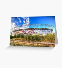 West Ham FC Stadium London Greeting Card