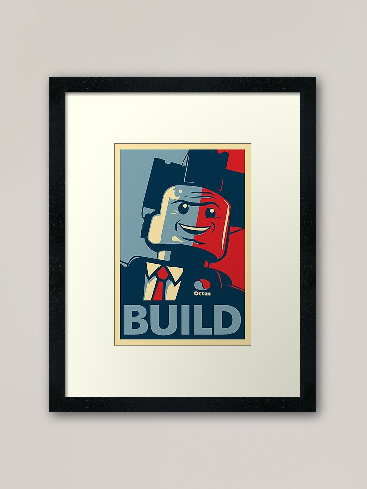 Alternate view of BUILD | The Lego Movie Framed Art Print
