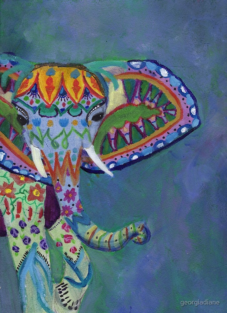 Elephant Queen by georgiadiane