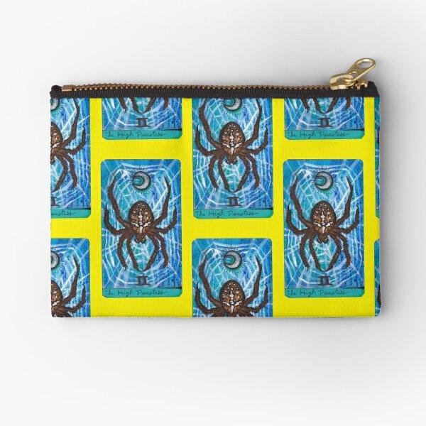 Arthropod Tarot - Card 2, The High Priestess Zipper Pouch