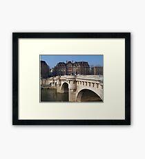 Pont Neuf Bridge, Ile-de-la-Cite, Paris Framed Print