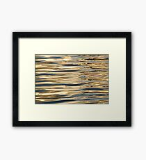 Water abstract. Framed Print