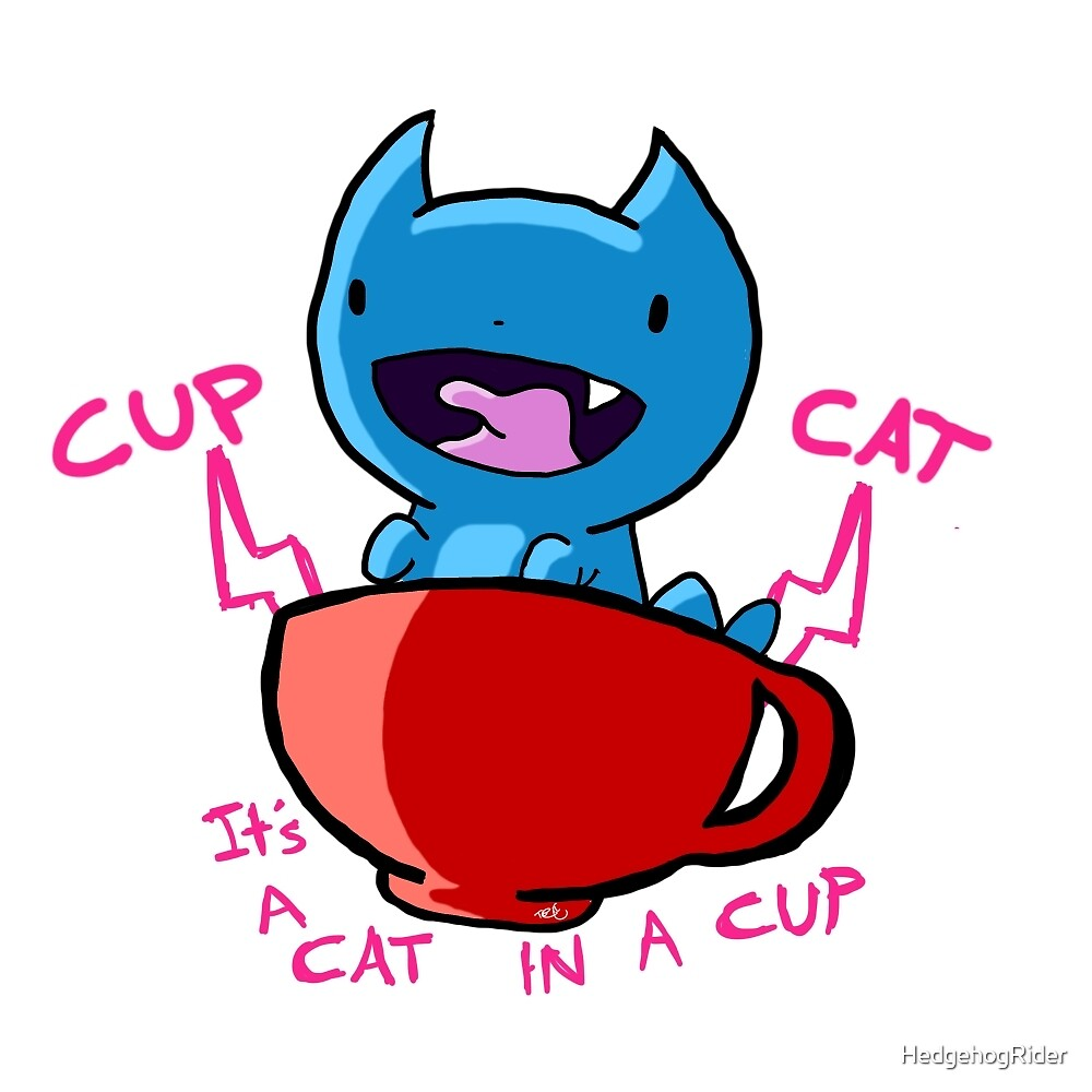 Cup Cat [ Water Version ] by HedgehogRider