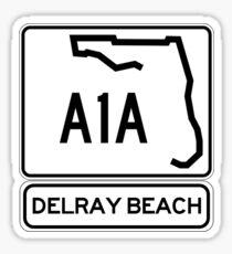 A1A - Delray Beach Sticker