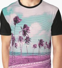 Vaporwave Sea Side Road Graphic T-Shirt