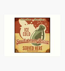 Ice Cold Soulstorm Brew Art Print