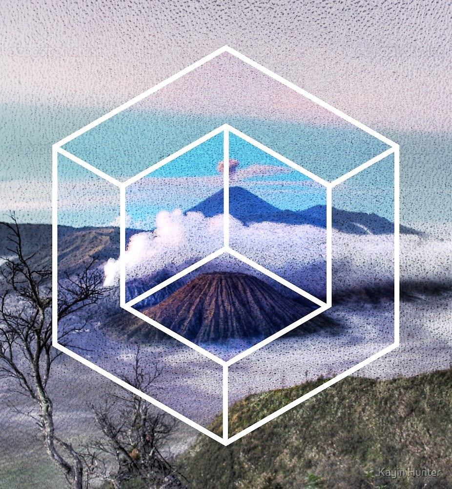 Hazy Mountain: False 3D Geometry by Kayin Hunter