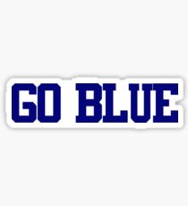 Color Wars - Go Blue Sticker