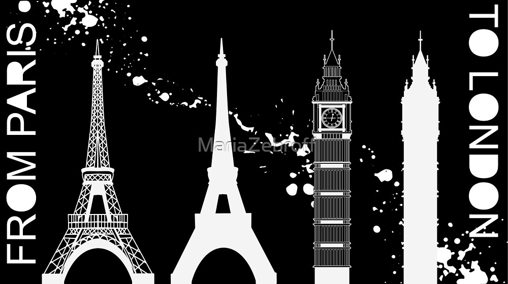 From Paris to London by MariaZebroff