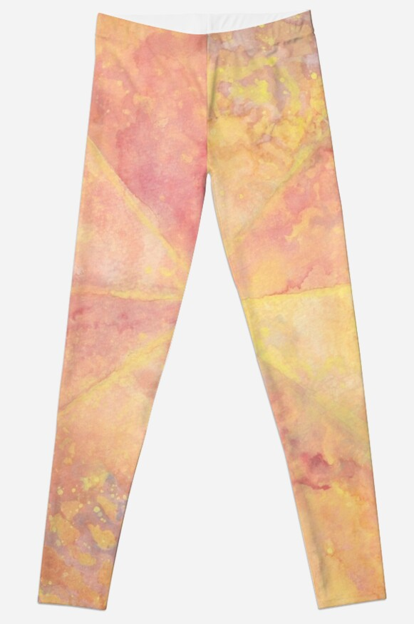 Peach Watercolor Burst by Inspwired