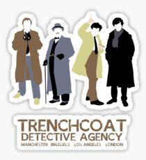 Trenchcoat Detective Agency Sticker