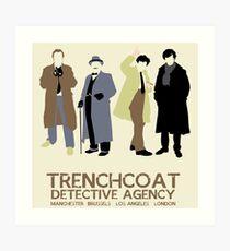 Trenchcoat Detective Agency Art Print
