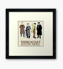 Trenchcoat Detective Agency Framed Print