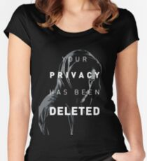 YOUR PRIVACY HAS BEEN DELETED Women's Fitted Scoop T-Shirt
