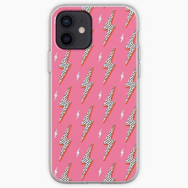 Lightning bolt thunder flash preppy pink iPhone Soft Case