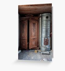 Abandoned in 1940´s House Greeting Card