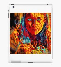 flame girl eating ice cream iPad Case/Skin