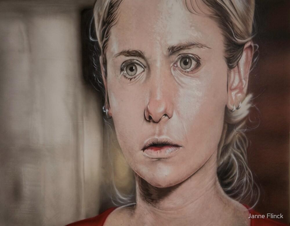 Airbrush Portrait - Sarah Michelle Gellar by Janne Flinck