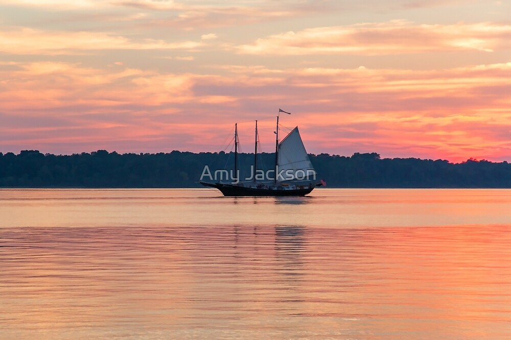 Schooner at Sunset by Amy Jackson