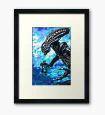 Alien from sci-fi movie Framed Print