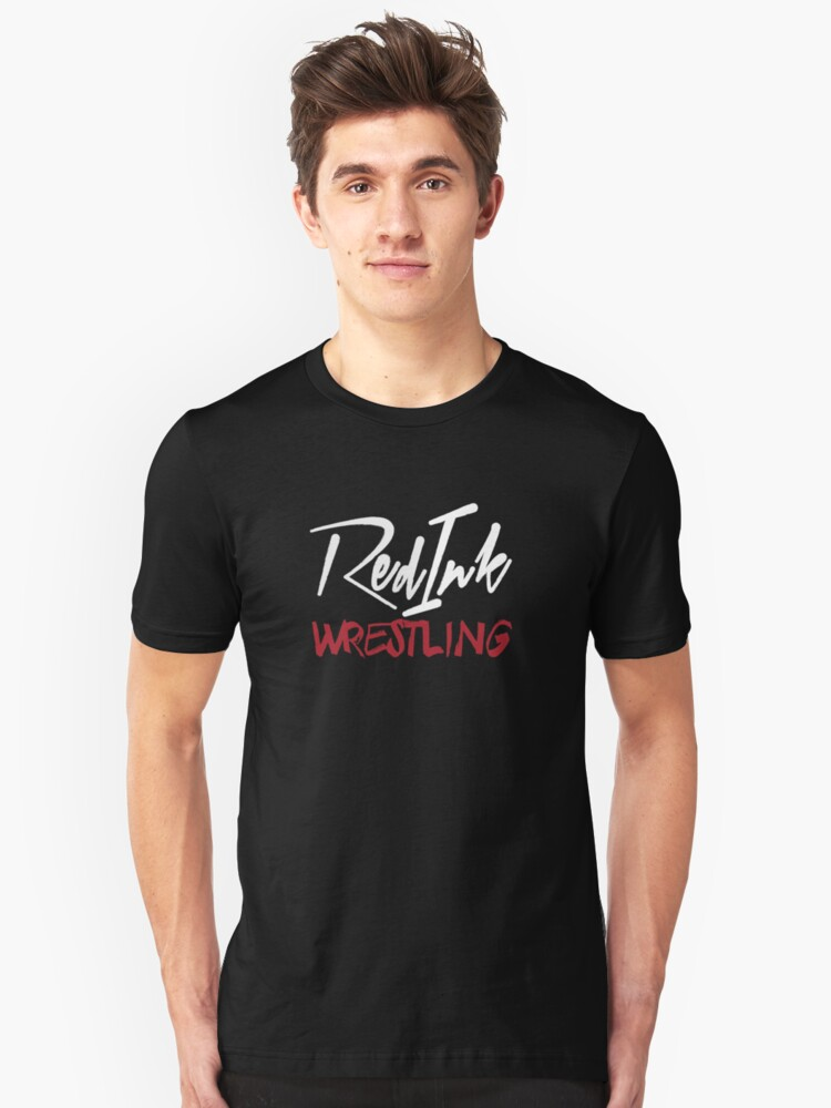 Red Ink Wrestling Logo Unisex T-Shirt Front