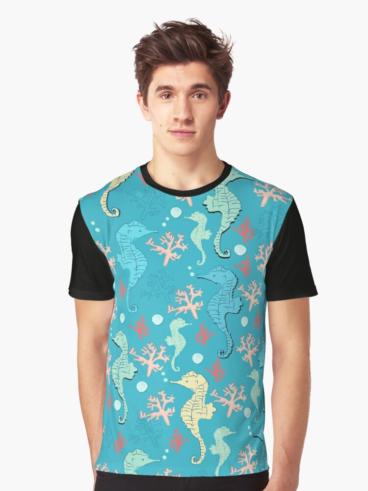 Sea of Seahorses (Bold) Graphic T-Shirt Front