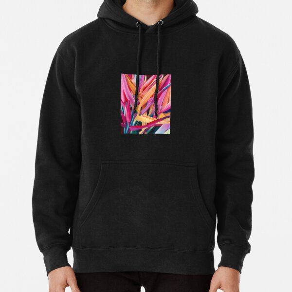 Insanely Lush Pink Tropical Pullover Hoodie