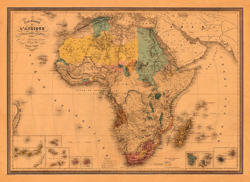 Map Of Africa 1880 by mollyfare