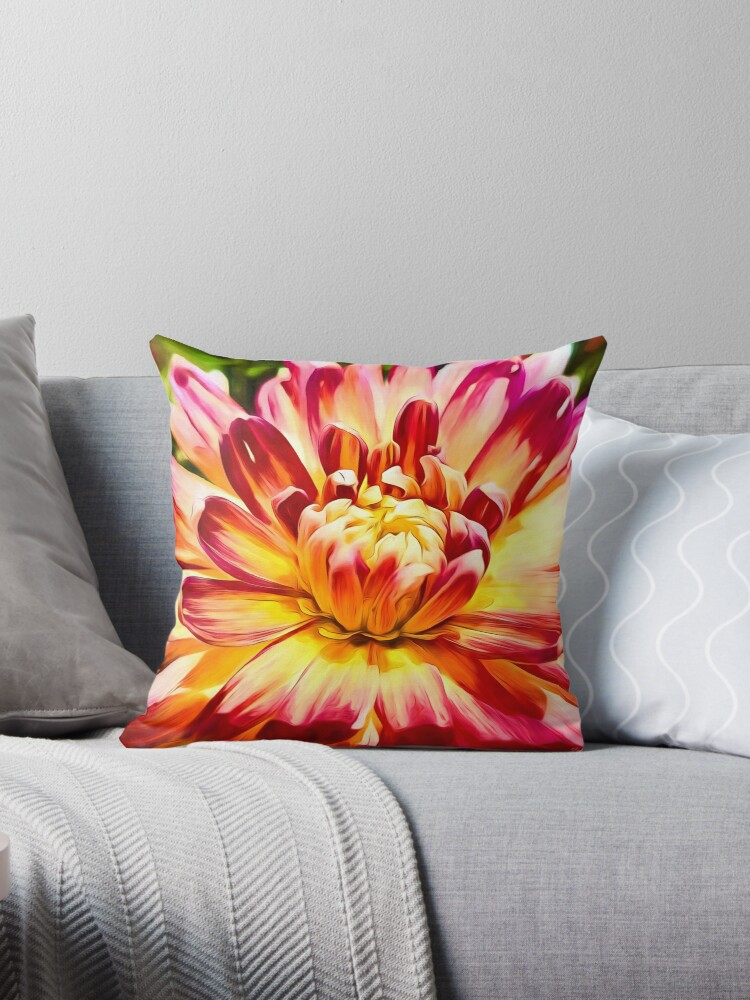 Red and Yellow Dahlia by John Corney