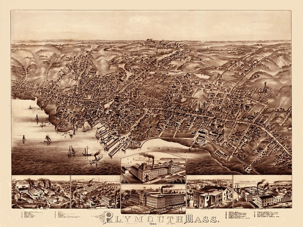 Map Of Plymouth 1882 by mollyfare