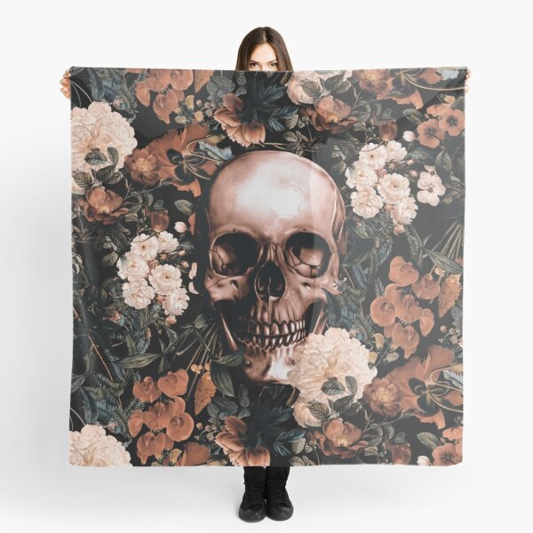 Floral and Skull II Scarf