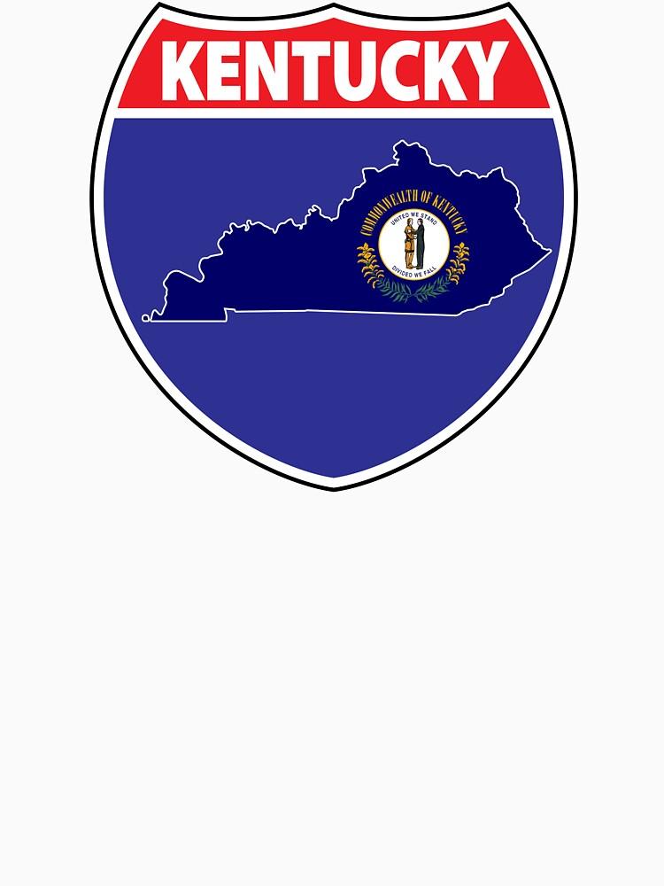Kentucky flag USA highway seal sign by mamatgaye