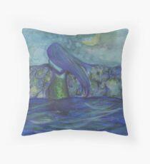 Moonlit Mermaid Throw Pillow