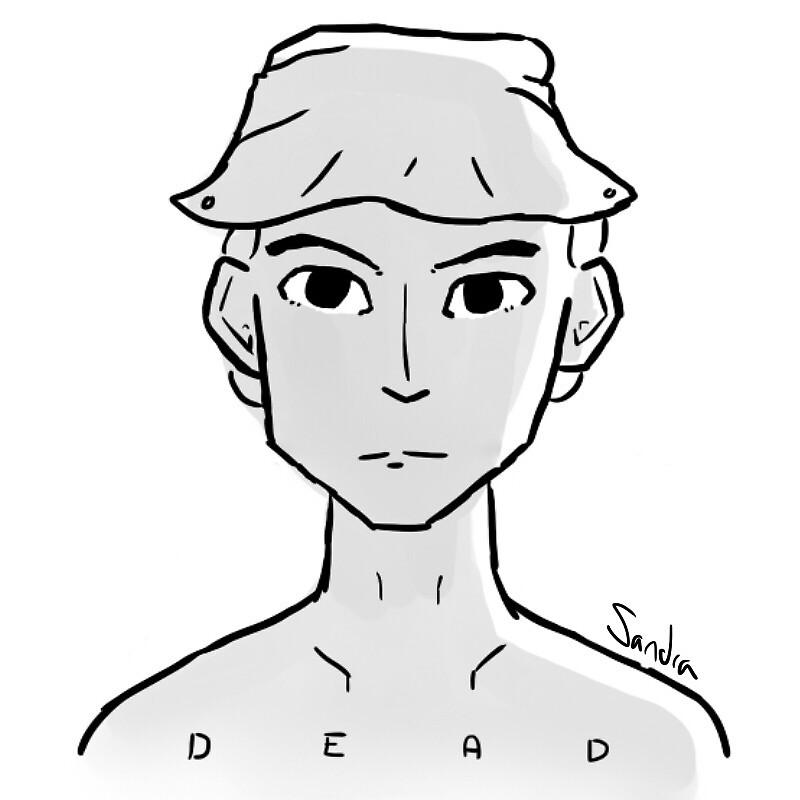 DEAD - STICKER by sandramcmuffin