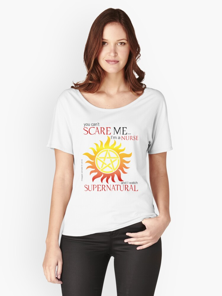 Supernatural Nurse Women's Relaxed Fit T-Shirt Front