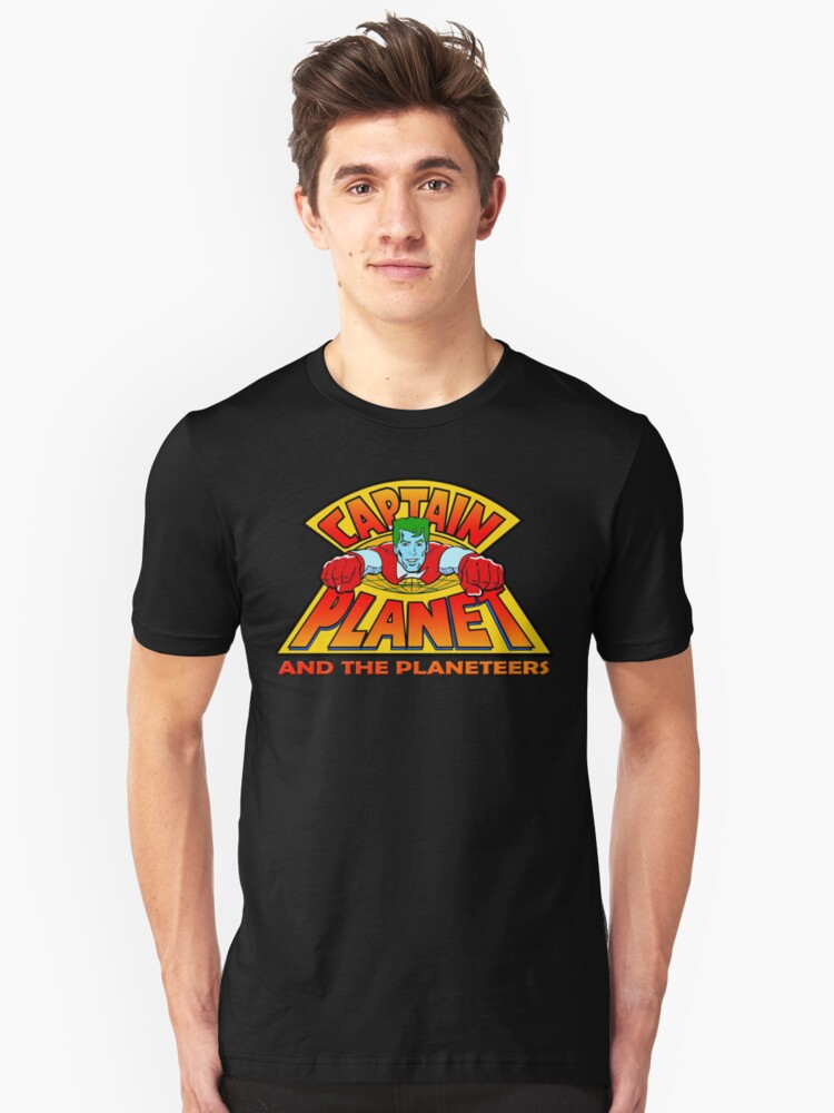 CAPTAIN PLANET AND THE PLANETEERS RETRO CLASSIC CARTOON  Unisex T-Shirt Front