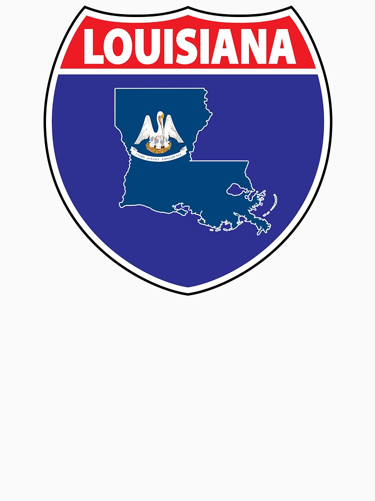 Louisiana flag USA highway seal sign by mamatgaye