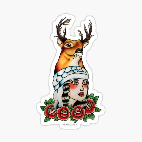 Yaqui Lady Head Sticker