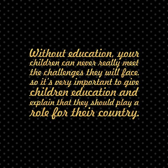 "Without Education... ""Nelson Mandela"" Inspirational Quote (Square) by Powerofwordss"