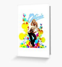 Olivia Newton-John Retro 70's Greeting Card